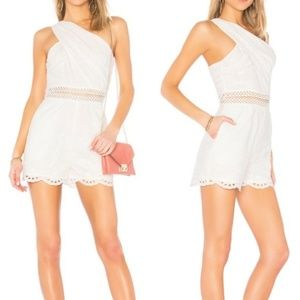NWT ENDLESS ROSE WHITE EYELIT ROMPER SIZE SMALL